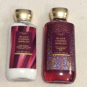 Black cherry Merlot shower gel and lotion
